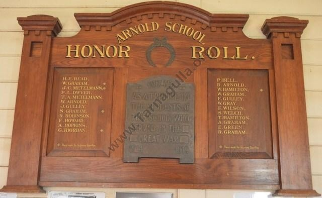 Arnold WW1 Honour Role