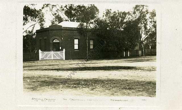 Newbridge Mechanics Institute, 1909.