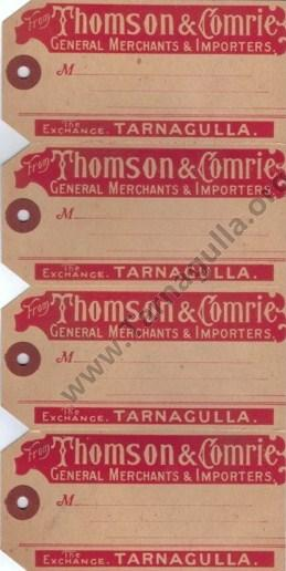 Thomson & Comrie Consignment Tags c1900