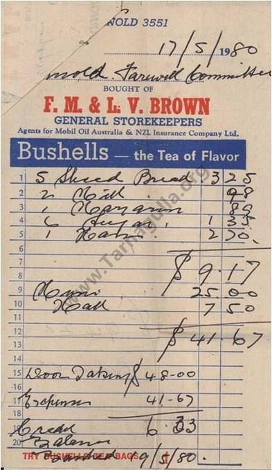 brown s general store invoice 3