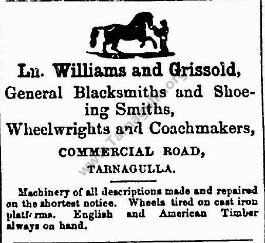 Ln. Williams and Grissold, Blacksmiths, Wheelwrights and Coachmakers 1865