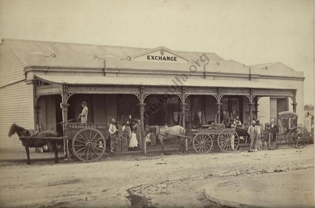 Another excellent photograph of the Exchange Store c.1872.From the Win and Les Williams family collection.
