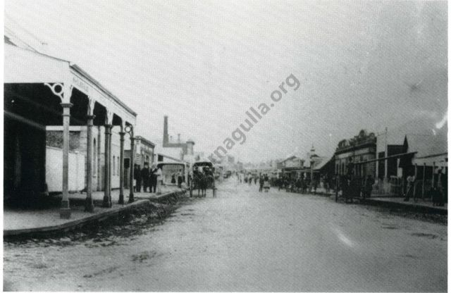 Commercial Road, Tarnagulla, June 1866. Looking South from King Street