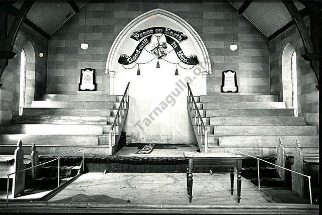 Interior of Tarnagulla Methodist Church.
