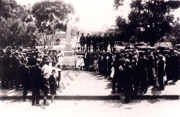 Opening of the Soldiers Memorial at Tarnagulla 1920.