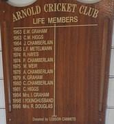 Arnold Cricket Club Life Members
