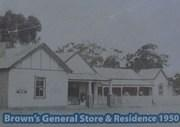 Brown's Store, Arnold, 1950.