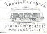 Thomson & Comrie Advert.Kindly provided by George Swinburne.